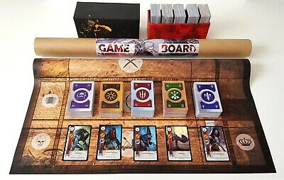 Witcher 3 Gwent Cards English Full Set 5 Decks In Box With Gameboard Game Board