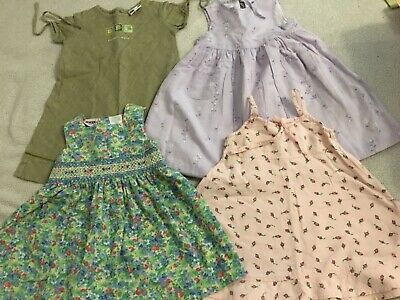 lot vêtements  fille 2 ans  LOT 4 robes PRINTEMPS ETE  / SMOKCS FLEURS RUBANS