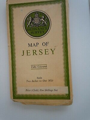 Vintage Ordnance Survey Map Of Jersey From 1933