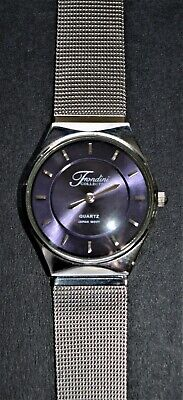 Fondini Watch Purple Face Stainless Steel Japan Movement See Pictures