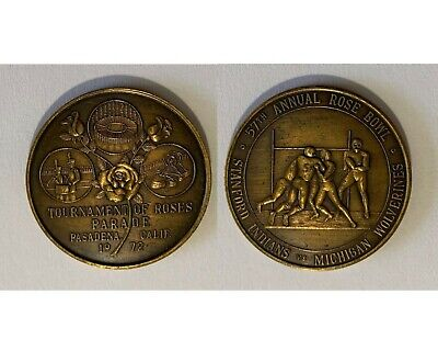 1972 Tournament of Roses Parade & 57th Annual Rose Bowl Souvenir Bronze Medal