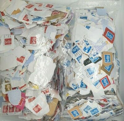 Used Franked 1st & 2nd Class Security GB Postage Stamps (6000 total)