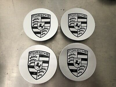 Porsche Genuine Crested x4 Wheel Centre Caps 76mm 911 Cayman Boxster 996 987 997