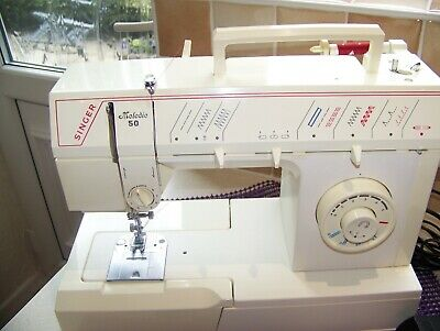 IMMACULATE SINGER MELODIE 50 F/ARM,7mm Z/ZG, HEAVY DUTY SEWING MACHINE, SERVICED