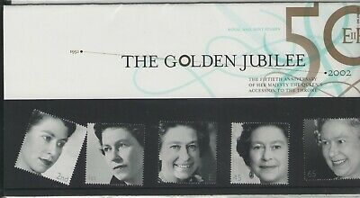GB QEII GOLDEN JUBILEE 2002 ROYAL MAIL PRESENTATION PACK  FREE p&p