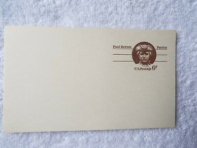 Paul Revere Patriot 6 cent Unused Postcard