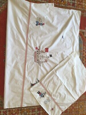 Little White Company Pirate Toddler Cot Bed Duvet Pillow Set PRISTINE