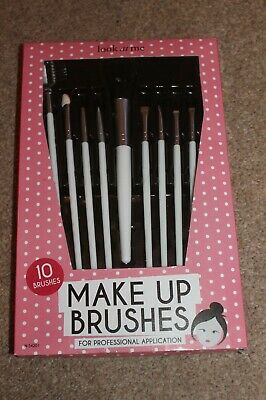 LOOK AT ME, 10 Make Up Brushes, For Professional Application, All Sizes