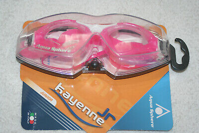 Aqua Sphere Kayenne Junior Childs Swimming Goggles In Pink With Case
