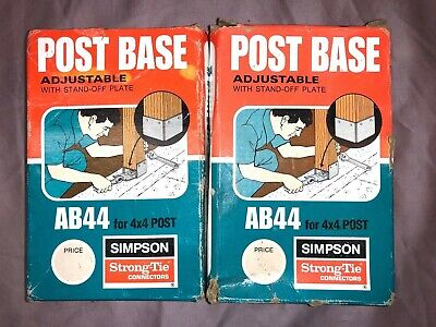 Simpson Strong-Tie Ab44 Adjustable 4 X 4 Post Base - 2 Each Included