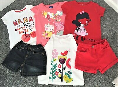 Bundle of girls clothes - age 5-6 years (shorts & tops)