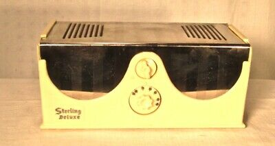 Antique Sterling Deluxe  vintage  tube radio restored and working