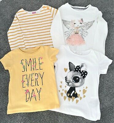 Bundle of  4 girls tops - age 5-6  & 6-7 years