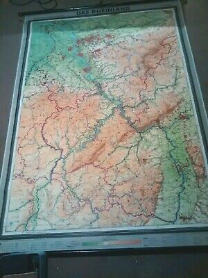 Superb Condition Vintage 1961 Westermann Das Rheinland German Map