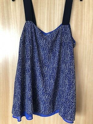 Next Blue Maternity Top Size 16