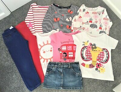 Bundle of girls clothes - age 5-6 years (6 tops/2 pair trousers/1 skirt)