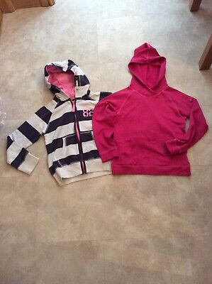 Girls Next Striped Hoodie & Sports Hooded Top, 10-11 Years