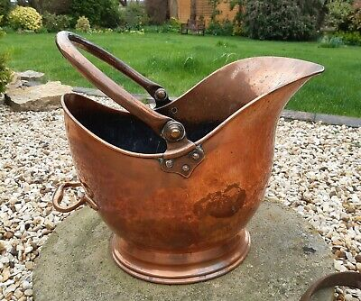Copper Planter / Coal Scuttle Helmet by Benham & Froude - good weight + patina