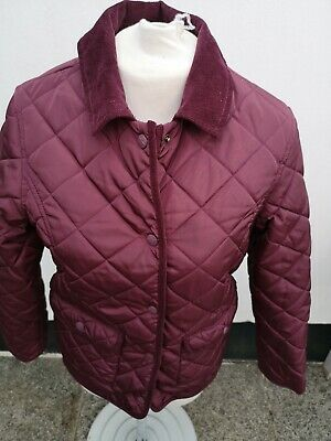 Quilted Jacket / Coat, M&S, Age 11-12, Burgundy, padded, Excellent Condition
