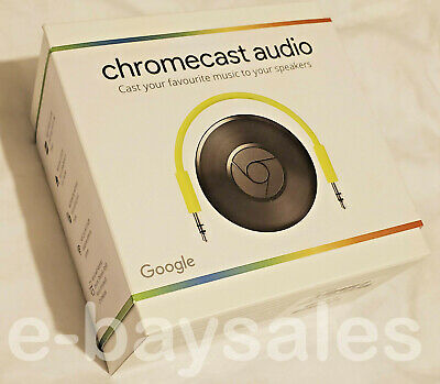 Rare Genuine Official New Sealed Google Chromecast Audio Wifi Wireless Streaming