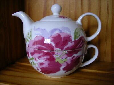 Laura Ashley tea for one teapot  & cup colourful LILY bone china