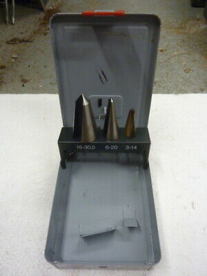 RS 3 piece HSS Cone Cutter Set 3mm to 30.5mm - RS Stock No. 510-002