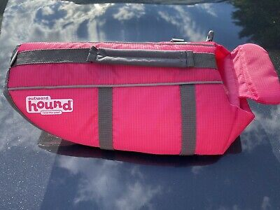 """OUTWARD HOUND Pink RipStop Dog Life Jacket Vest """"Small"""""""