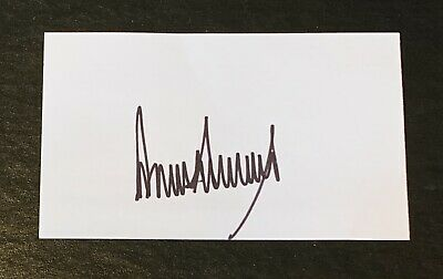 Donald Trump United States President Signed Autograph 3x5 Index Card