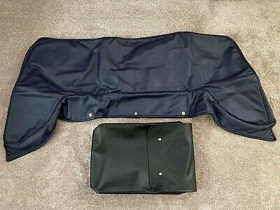 Aston Martin V8 LWB Tonneau Cover (Blue Leather) - GENUINE AM PART - PRISTINE -