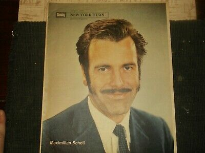 Vintage NewYork Newsp.Sup.April27,1969 /MAXIMILIAN SCHELL Cover//Nukes/Red Army