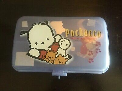2001 Sanrio Pochacco Dog Pencil Case School Supplies Box EUC