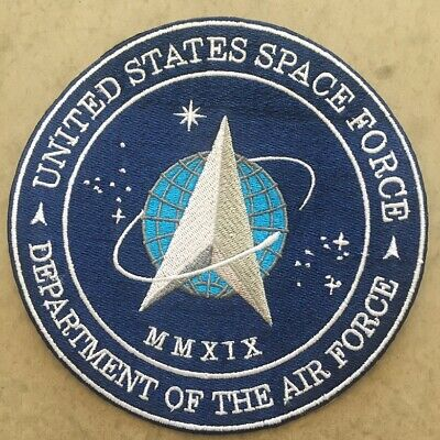 """Space X Patch U.s. Space Air Force Crew Dragon Demo-2 Sleeve Style 4"""" Embroidery"""
