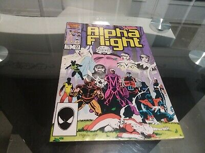 Alpha Flight #33 (1986, Marvel) 1st Cameo App Lady death strike!