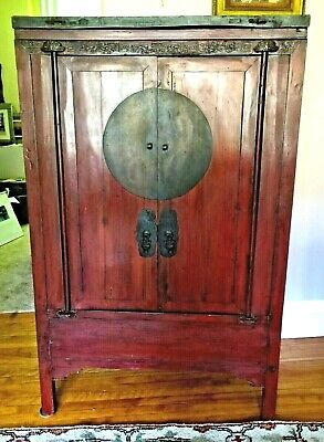 Antique Chinese Wedding Cabinet~
