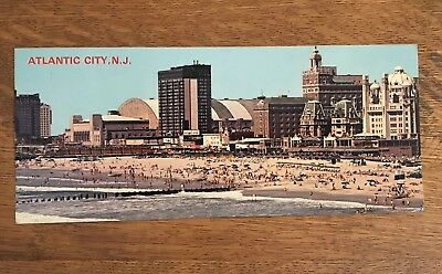 Vintage Atlantic City AC NJ New Jersey Postcard  OLD Card Beach Postcard POST