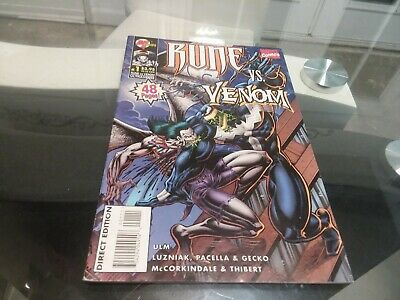 Rune vs. Venom #1 1995 Malibu Marvel Comics 1st App of Winged Venom!