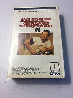 * One Flew Over The Cuckoo's Nest Betamax NOT VHS 1975 Jack Nicholson Drama Beta