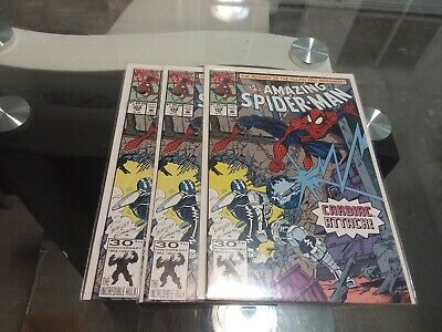 The amazing spiderman #359 3x 1991 Marvel 1st cameo App of carnage symbiote! VF+