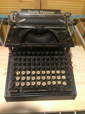 Smith Premier Typewriter No 10 * Antike Schreibmachine * sehr dekorativ!