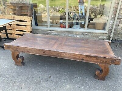 vintage Indonesian large daybed/coffee table