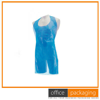 Strong Disposable Blue Kitchen Aprons Heavy Duty 27x42""