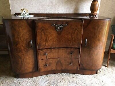 Vintage Beautility Sideboard with Cocktail/Drinks Cabinet, Original Hardware