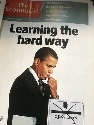 The Economist Magazine. 5 Issues. March, November And December 2009. Obama.