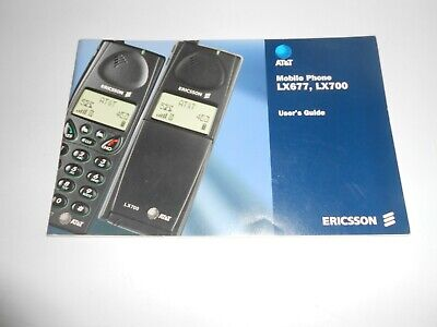 Vintage Rare At&T Mobile Phone Lx677, Lx700 User's Guide - Ericsson - 1999