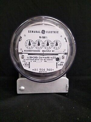 GE - I-70-A Watthour Meter. - 240 V, 3 W, Rr166-2/3