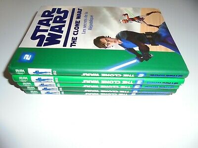 Lot Star Wars The Clone Wars Tomes 2/3/5/6/8/ Be/ Bibliotheque Verte