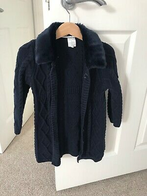 Jasper Conran girls cardigan navy age 4 beautiful condition