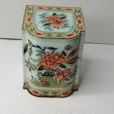 Daher Vintage Decorative Tin With Hinged Lid Made In England