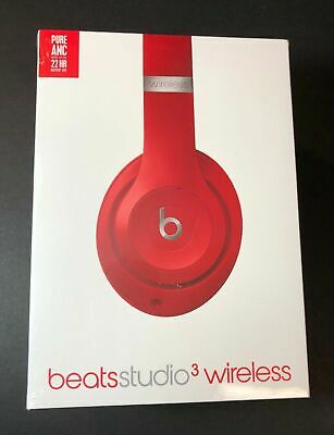 Beats by Dr. Dre Studio3 Headband Wireless Over The Ear Headphones - Red