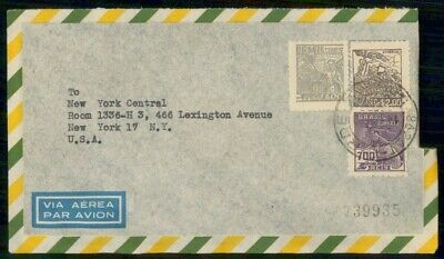 Mayfairstamps Brazil Sao Paulo to NY Central Cover wwe_98979